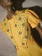 CHIC VINTAGE ROBE POP 1970 VTG DRESS 70s KLEID 70er ABITO ANNI 70 VESTIDO (38)