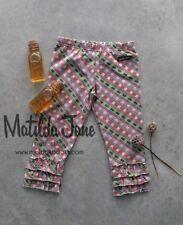 NEW Girls Matilda Jane HTF You & Me Mac plaid ruffle leggings pants size 10 NWT