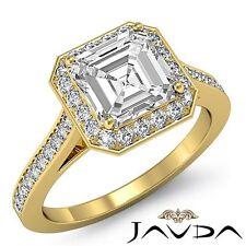 Princess Diamond Engagement Vintage Halo Ring GIA G VS1 18k Yellow Gold 2.2ct