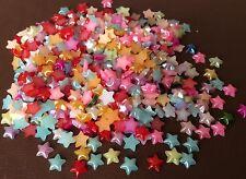 100 Star Shape plastic flat back, Small 6mm cabochon Jewellery, Crafts