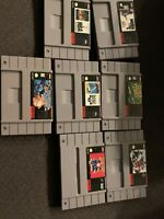Madden 98/ Wordtris/ Ken Griffey/ And More... Lot Of 7/ Super Nintendo SNES