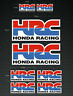 8 x HONDA HRC Stickers/Decals  Printed and Laminated