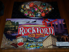 MONOPOLY BOARD GAME ROCKFORD ON BOARD ILLINOIS IL RARE NEW SEALED SOCK MONKEY