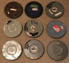 "Lot of 9 assorted Metal 16mm 800 foot Film Cans for your ""two reelers""!"