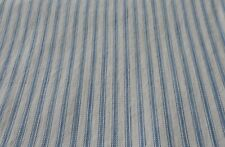 Antique Primitive Rustic Farmhouse Soft Blue Ticking Fabric ~
