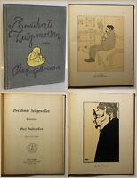 Gulbransson Berühmte Zeitgenossen 1905 Karikaturen Kunst Erstausgabe Kultur sf