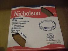 """Nicholson 100 Foot Band Saw Blade Coil  1/8"""" x .025 x 24 TPI  Raker Carbon"""
