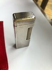 DUNHILL- STERLING SILVER lighter...hallmarked 925. Linear design. USED