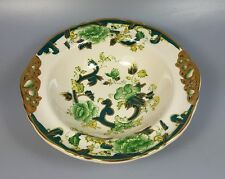 MASONS CHARTREUSE EARED CEREAL / DESSERT / PUDDING BOWL 16.5CM X 16CM (PERFECT)