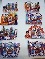 4 ATTRACTIVE 3D I LOVE LONDON BRITISH ENGLAND UK FRIDGE MAGNET SOUVENIR CERAMIC