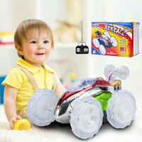 Toys for Kids Boys Stunt Car LED Light Music RC Remote Control Truck Xmas Gift