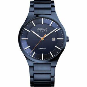 BERING Herren-Armbanduhr Analog Solar Titan 15239-797