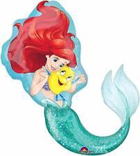"34"" Little Mermaid Ariel Birthday Party SuperShape Mylar Foil Balloon"