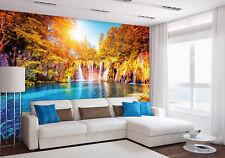 Wandbild Foto Tapete + Gratis Selbstklebend 366x254cm Wasserfall & See IN