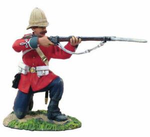 Britains 20018 Zulu War British 24th Foot Infantry Kneeling Firing #1 54mm New