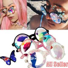 AU Stock Kaleidoscope Glasses Rave Festival EDM Sunglasses Diffracted Lens NW