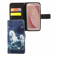 Schutz Hülle für Handy Samsung Galaxy J5 2017 Einhorn Weiß Tasche Case Wallet