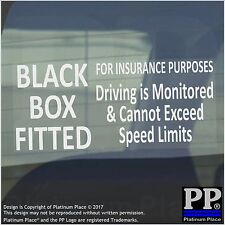 1 x BLACK BOX Fitted-Insurance Purposes-Driving is Monitored Sticker-Sign-Car