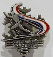 LA TRACE ARGENT SKI FOND Broche médaille insigne ESF Ecole Ski Français NEUF