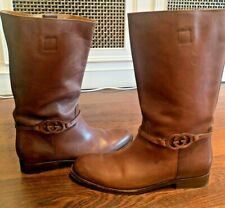 Rare Gucci men boots shoes brown leather 45EU/ 10.5UK