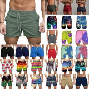 Mens Swimming Board Shorts Swim Surfing Shorts Trunks Swimwear Beach Wear Pants