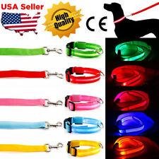 Nylon Unisex Dog Collars with LED Lighting