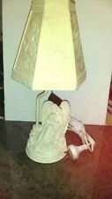 15.7cm New Handcrafted Carved Plaster Angel & Child Lamp With Shade