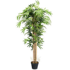 Artificial Bamboo Silk Tree - 5 Feet Tall - Indoor Outdoor Home Office Decor