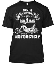 Custom Motorcycle - Never Underestimate An Old Man Hanes Tagless Tee T-Shirt