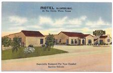 Linen Postcard Motel El Camino Rea'l in Waco Texas~103881