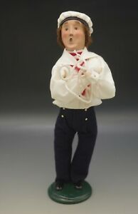 """BYERS CHOICE 2001  SAILOR WITH ROPE 13"""" CAROLER SIGNED"""