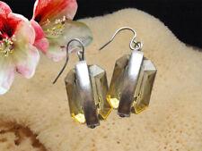 Ohrringe mit Kristall Stein Farbe Silber Grün Gelb Schmuck Hänger Ohrhänger 21