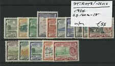 St. Kitts-Nevis 1954 SG.160a-168 U/M