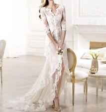 Handmade Lace Half Sleeve Wedding Dresses