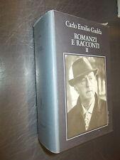 CARLO EMILIO GADDA:ROMANZI E RACCONTI VOL.II.LIBRI DELLA SPIGA GARZANTI 1999