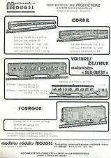 Catalogue Mougel 1985 HO N train chemin de fer réseau ferroviaire