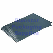 "500 bolsas de correo Postal Poly Gris 350 X 525 mm (14 X 20"") de gastos de envío gratis"