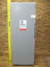 Westinghouse Type 1 enclosure 200A 200 amp 240V switch HUN324