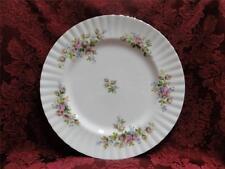 "Royal Albert Moss Rose, Pink, Blue, Flowers: Dinner Plate (s), 10.5"""