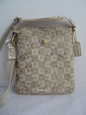 Coach NWT 48673 Waverly Snow Queen Swingpack Parchment / Gold
