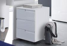 Rollcontainer Spice, Schubkästen, Schreibtischcontainer, Rollbox, Weiß Hochglanz