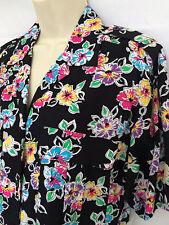 Vintage 90's Colorayons Floral Print Women's Blouse Shirt Top Sz M Never Worn