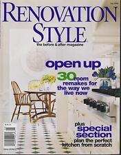 RENOVATION STYLE MAGAZINE MAY 2004 *OPEN UP*
