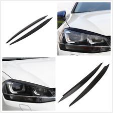 2X Black Headlight Eyelids Eyebrow Cover Trim Decor For VW Golf 7 VII GTI R MK7