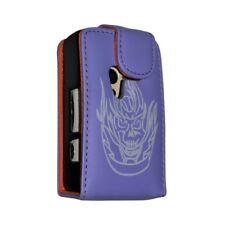 Housse coque étui Violet Tête de Mort pour Sony Ericsson Xperia X10 Mini + Film