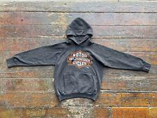 Vintage Harley Davidson 3D Emblem 90s 1991 Wisconsin Hoodie Sweatshirt