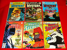 DC Horror Comic Books 4 House of Mystery / 7 Secrets 1964-77 most Bronze Age