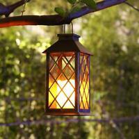 Lampada Solare LED Lanterna Candela Tremolante Esterno Luci Paralume da Giardino