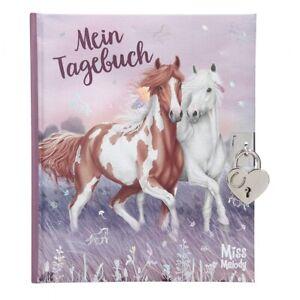 Miss Melody Tagebuch mit Schloss Schlüssel Sticker Notizbuch Reisetagebuch