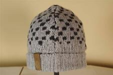 Gucci Gray and Black Beanie Leather Logo Patch Wool Silk Large New Hat Skull Cap
